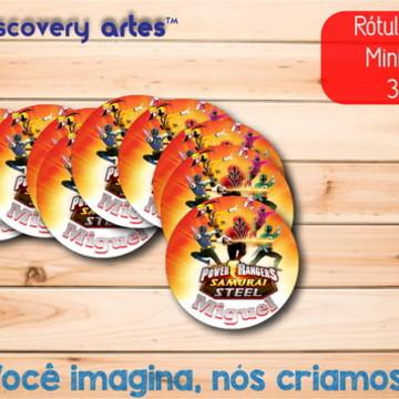 Rótulo Adesivo Mini Baleiro Power Rangers