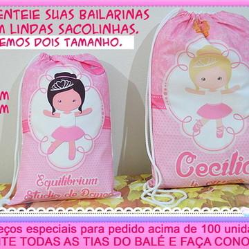 df905087e7 Sacolinha Tecido Tnt para Loja Ballet Bailarina