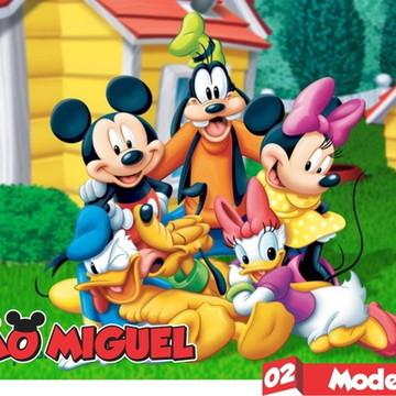 Mickey Painel Lona Brilho Decoração Festa Infantil C-ilhóis