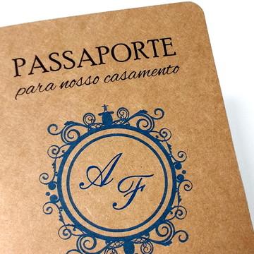 Convites Criativos Casamento Passaporte | Frete Grátis