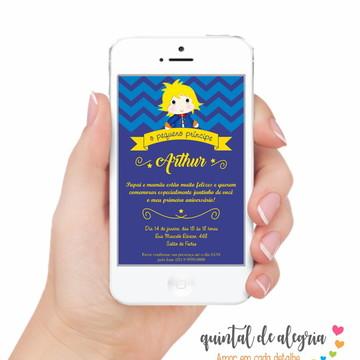 Convite Digital Pequeno Príncipe 002