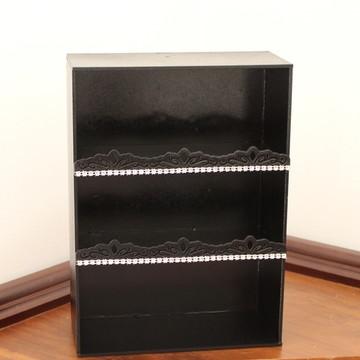 Mini-armário - MDF pintado e decorado com strass