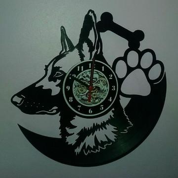 Relógio Cachorro Pastor Alemão