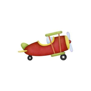 Aplique Brinquedo Aviao MDF Litoarte apm8-856