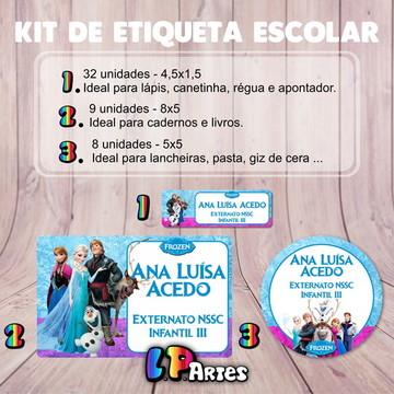 Kit Etiqueta Escolar - FROZEN