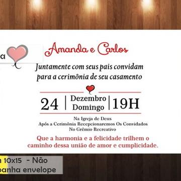Convite Casamento Coração