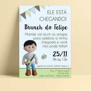 Convite Chá de Bebê/Fraldas Personalizado