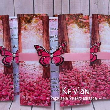 Convite Floral - Aplique Borboletas