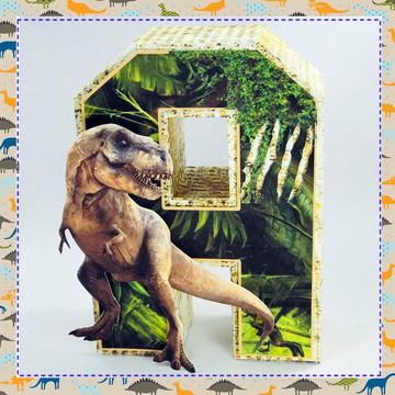 Letras 3d Dinossauros