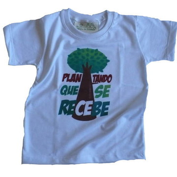 Camiseta Infantil malha PET Plantando BR