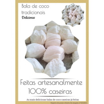 Balas de coco caseiras - Tradicionais