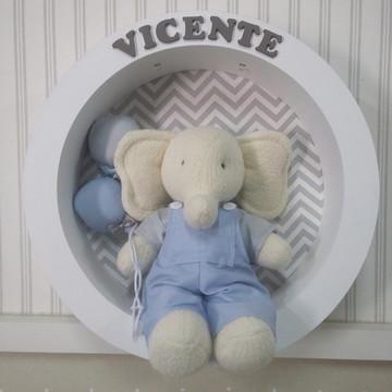 Porta Maternidade Elefante com leds