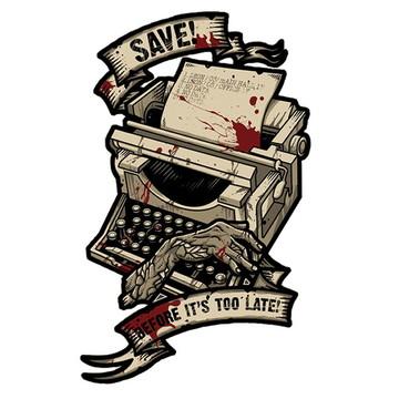 Camiseta save point máquina de escrever
