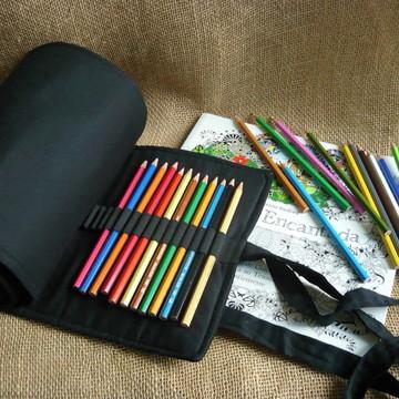 Estojo Rolinho Porta 200 lápis de cor