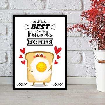 Quadro Best Friends Forever - Pão com Ovo - 20x30cm