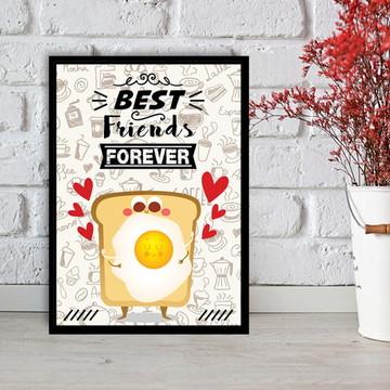 Quadro Best Friends Forever - Pão com Ovo - 30x40cm