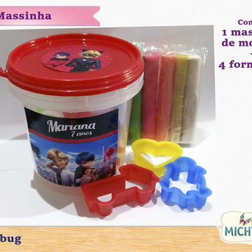 Pote Kit Massinha Ladybug