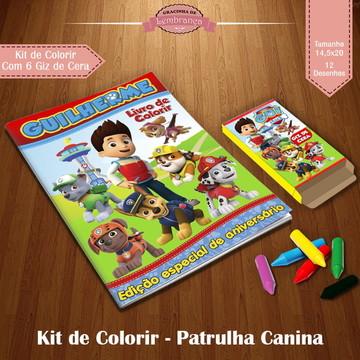 Kit de Colorir - Patrulha Canina