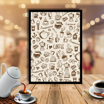 Quadro I Love Coffe 20x30cm
