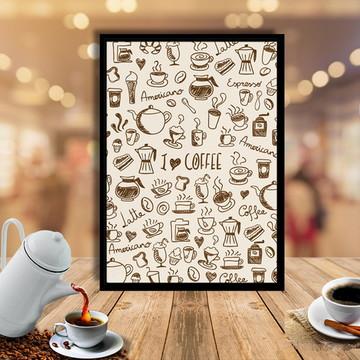 Quadro I Love Coffe 30x40cm