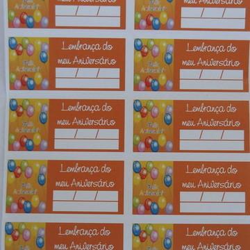 Tag Lembrancinha Feliz Aniversario (30 unid.)