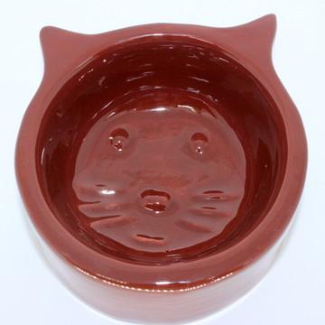 Comedouro de gato - Marrom