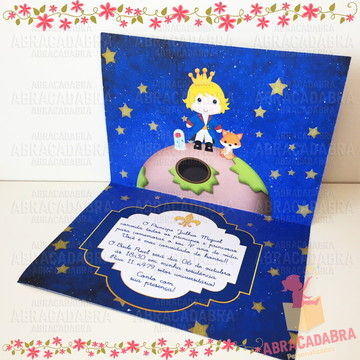 Convite O Pequeno Principe luxo
