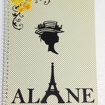 Caderno Personalizado - Paris Vintage