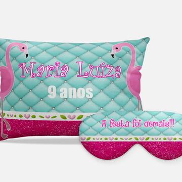 Kits Festa Do Pijama Flamingos tifany/pink