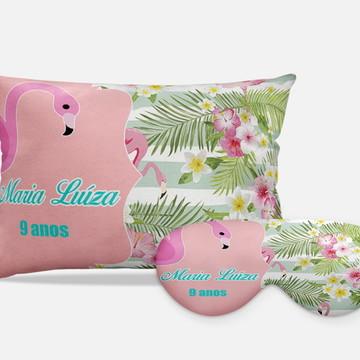 Kits Festa Do Pijama flamingos rosa floral