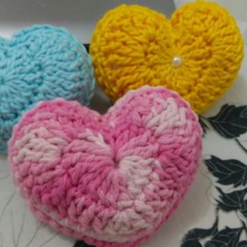 Coração crochê (Amigurumi)