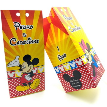 Caixa Milk Tema Mickey & Minnie