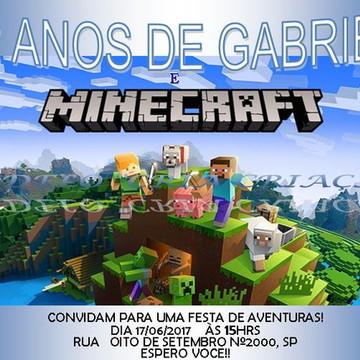 Convite Digital Minecraft whatsapp -pronta entrega-