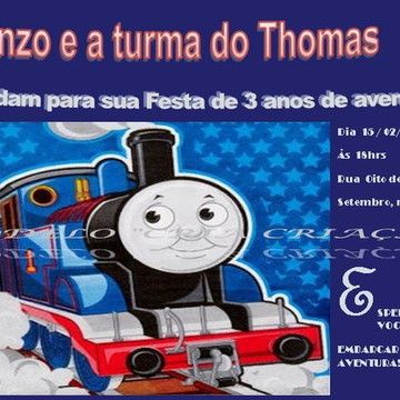 Convite Digital Thomas e Seus amigos -pronta entrega-
