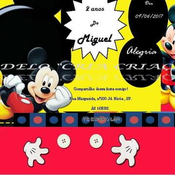 Convite Digital Mickey Mouse whatsapp -pronta entrega-