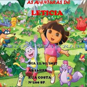 Convite Digital Dora Aventureira Whatsapp -pronta entrega-