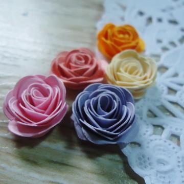 50 mini flor de papel