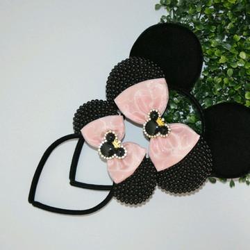 orelhas da minnie e mickey Realeza (3 peças )