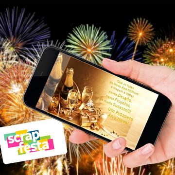 Convite Arte Digital Feliz Ano Novo (Boas Festas)
