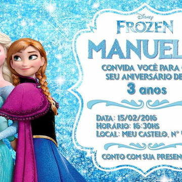 Convite Virtual - Tema Frozen