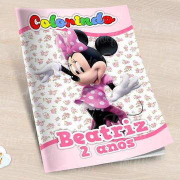 Revista colorir Minnie Rosa