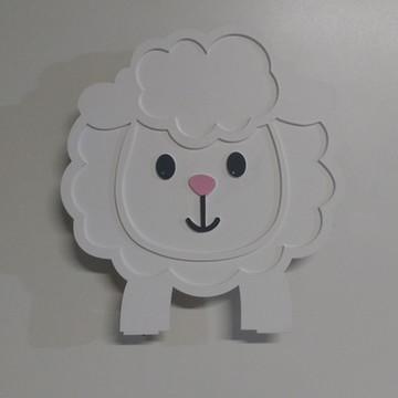 Porta de maternidade ovelhinha com luz de led luminaria bebe