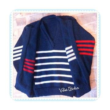 Blusa em trico com colete - 1 a 4 anos