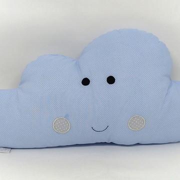 Almofada Nuvem poá azul