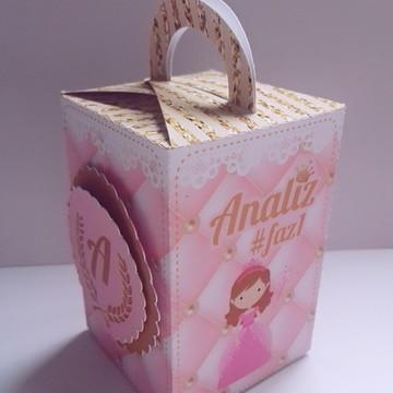 caixa com alça realeza menina