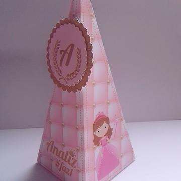 caixa cone realeza menina