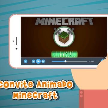 Convite Animado Minecraft