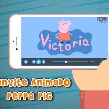 Convite animado virtual Peppa Pig