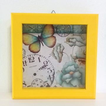 quadro decorativo amarelo