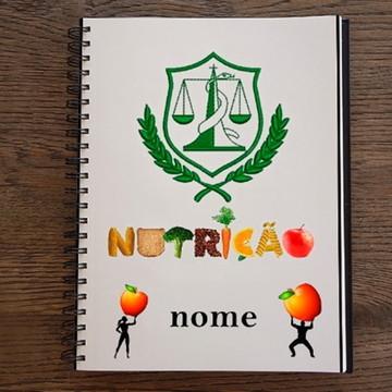 Caderno Personalizado Curso Nutrição 10 Matérias 200 Folhas